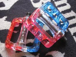 ODYSSEY TWISTED PC PEDAL (Red/Clear/Blue)