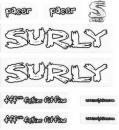 SURLY OLD PACER DECAL WHT