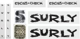 SURLY CROSS-CHECK DECAL BK