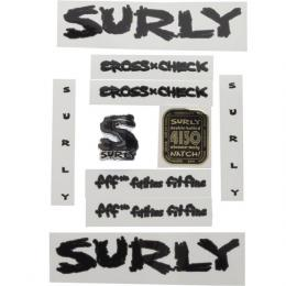 SURLY CROSS-CHECK DECAL BK/w GRY