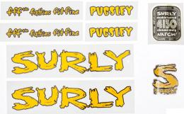 SURLY PUGSLEY DECAL YLW